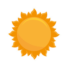 sun light hot natural sign heat ray vector illustration isolated