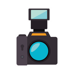 camera professional picture lens buttons device photography vector illustration isolated