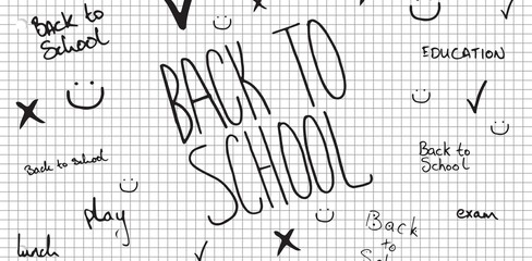 Composite image of back to school doodle