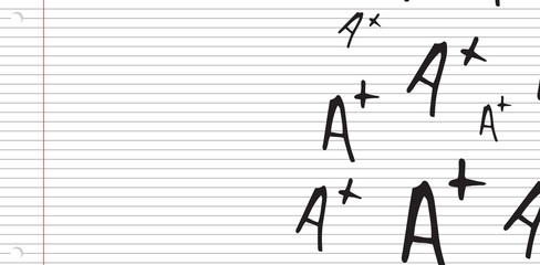 Composite image of a+ grade