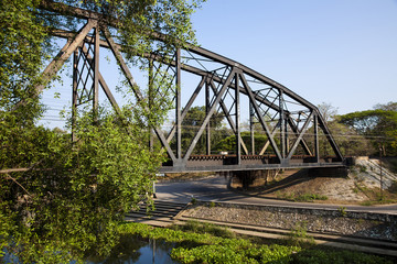 old rail way bridge vintage.