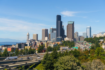 Beautiful View of Seattle Downtown