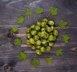 Green gooseberry on an