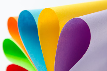 Colorful sheets of color paper, abstract background