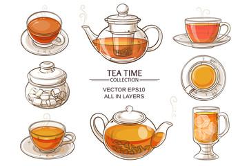 glass tea set color