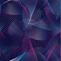 Abstract vector seamless pattern futuristic background with colo