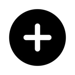 flat design plus sign button icon vector illustration