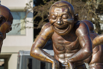 Laughing Man Statues In Vancouver