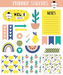 Summer planner stickers