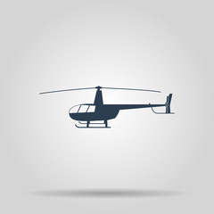 Helicopter icon. Vector concept illustration for design