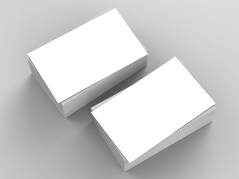 stack of blank name card