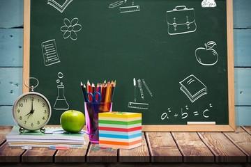 Composite image of school doodles