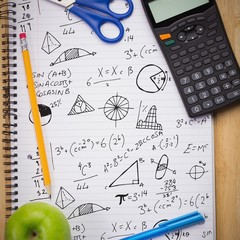 Composite image of math equations