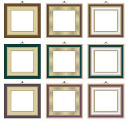 Elegant picture frames.