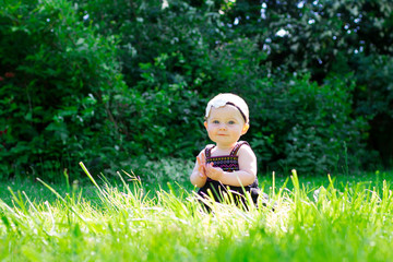 6 Month Old Baby Girl Outdoors