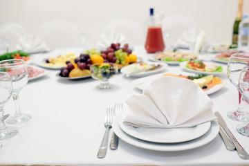 Banquet facilities table setting