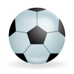 Realistic Fooltball ball icon sport symbol isolated 3d design vector illustration