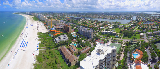 Aerial image of residential neighborhoods in Marco Island
