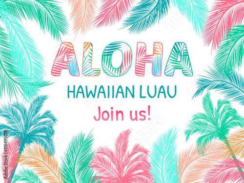 Aloha hawaiian party template invitation stock image and aloha hawaiian party template invitation stopboris Gallery