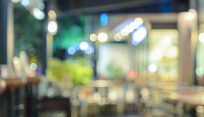 Blurred coffee shop or restaurant background