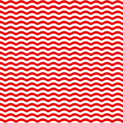 Red waves on white background