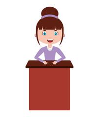 woman female teacher character