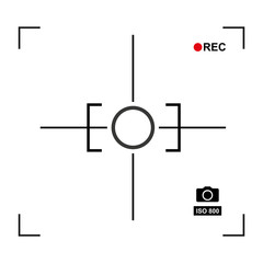 target photographic isolated icon