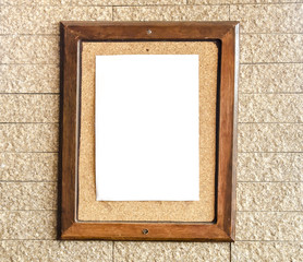 Blank paper on cork board