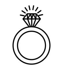 ring diamond isolated icon
