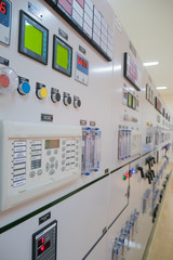 Control room of the hydro power plant .