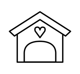 house love isolated icon