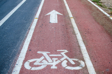 Cycling road signs and markings