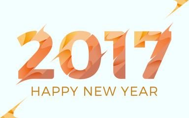 2017 Happy New year vector illustration background design. Modern frozen theme
