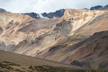 Famous Manali-Leh high altitude road road to Ladakh in Indian Himalayas. Ladakh, Jammu and Kashmir, India.