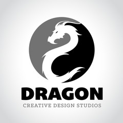 Dragon Vector Logo Template.