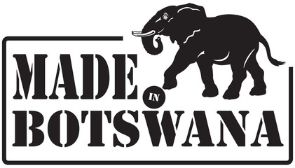 Stamp imprint - Made in Botswana