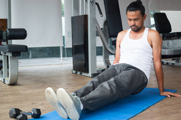 exercises in fitness sport club