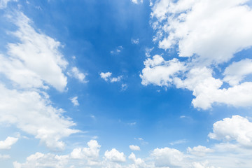 Beautiful blue sky and white clouds nature background