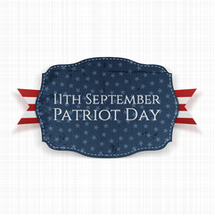 Patriot Day - 11th September Label with Ribbon