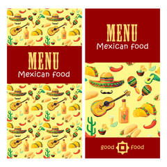 Mexican Food Menu Vector illustration. Vector design template for Mexican restaurant. Mexican food