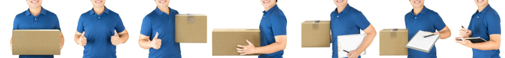 delivery man isolated on white