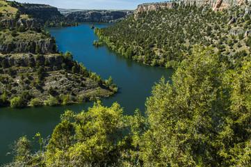 Parque Natural de las Hoces del Río Duratón, Segovia. España.