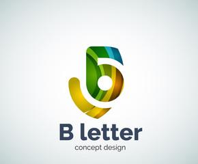 Vector B letter concept logo template