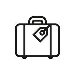 luggage icon on white background