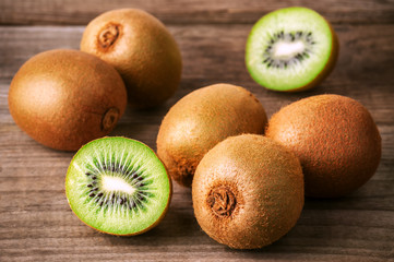 heap of ripe kiwi