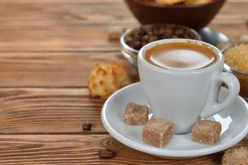 Espresso in a white cup