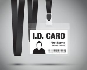 id card black