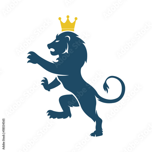Lion with a crown