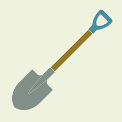 Shovel or garden spade icon. Colorful vector illustration. Flat design.