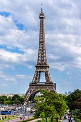 Tour Eiffel (Eiffel Tower). View from Trocadero. Paris, France.